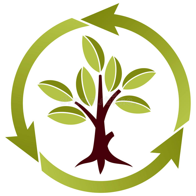 Download Tree With Leaves And Recycling Symbol Stock Vector - Image: 13815321
