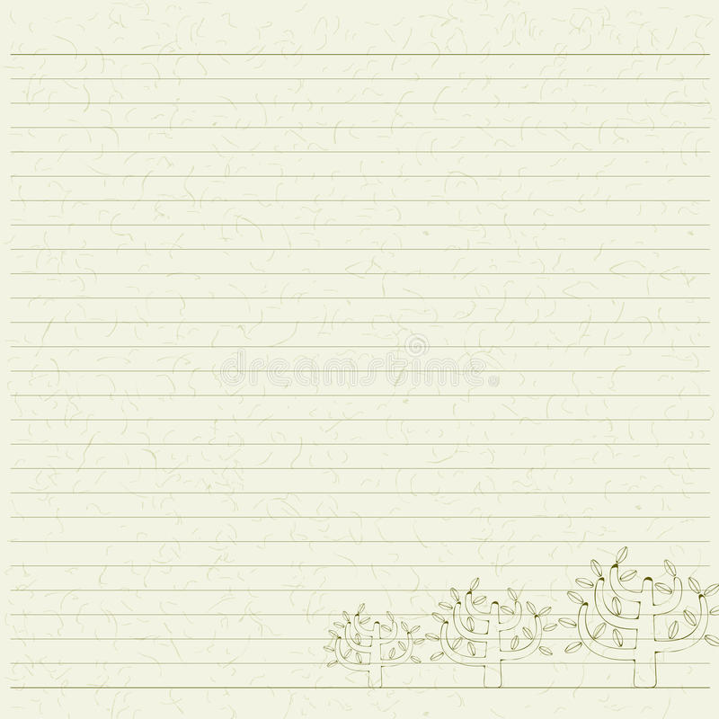 Tree letter paper royalty free stock photos