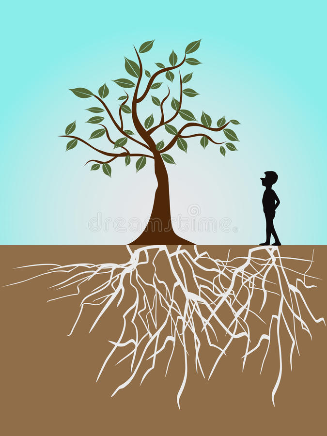 Download Tree life stock vector. Illustration of roots, black - 22421486