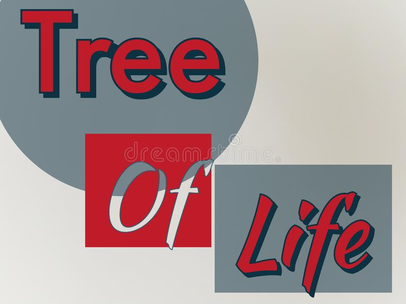Tree of life cover in red color the title stock photos