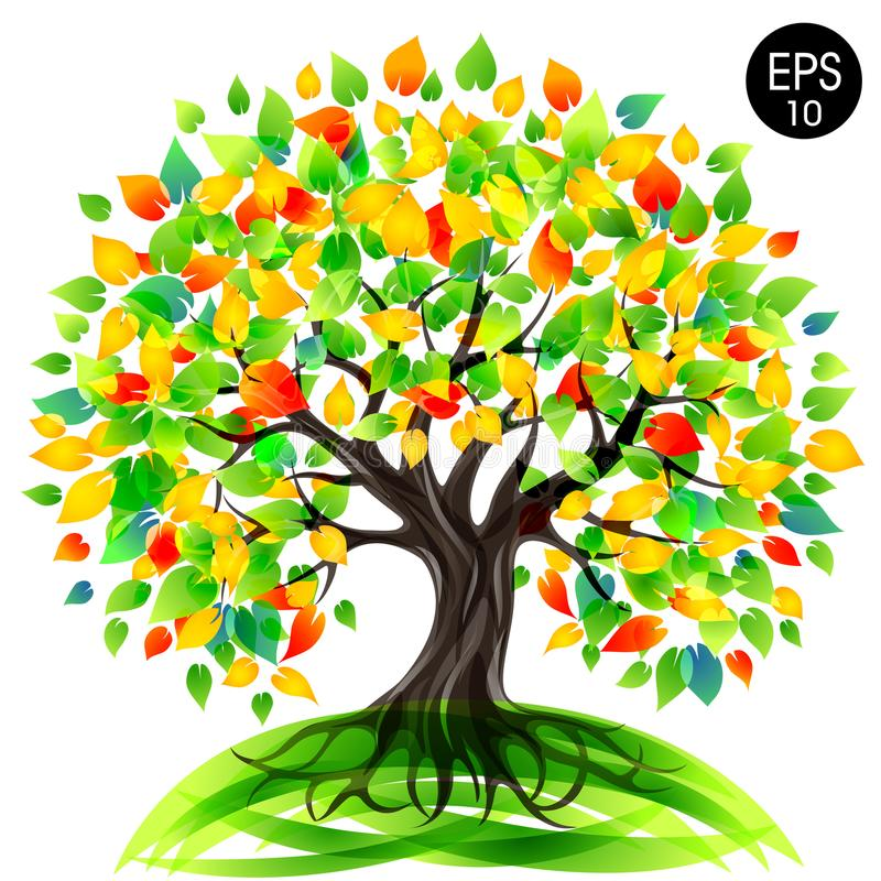 Tree of Life. Eco Tree. Stock vector colorful illustration stock images