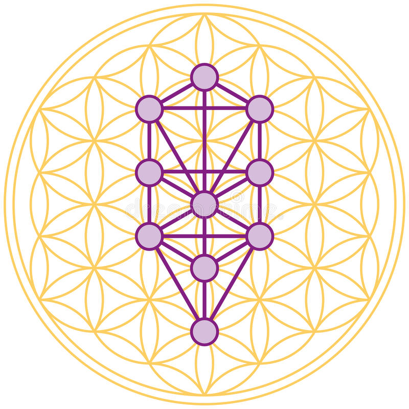 Download Tree Of Life Fits Perfect In The Flower Of Life Stock Image - Image: 34372297