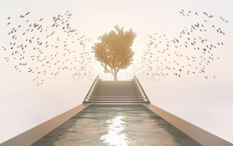 Tree of Life - Garden of Heaven Spiritual Concept royalty free stock photography