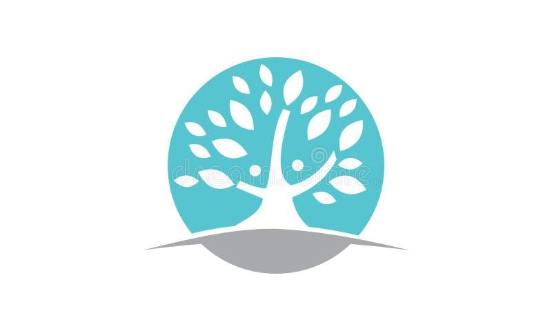 Tree of Life Healing Center. Logo Design Template vector illustration