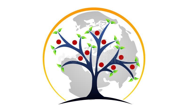 Tree of Life Healing Center. Logo Design Template Vector royalty free illustration