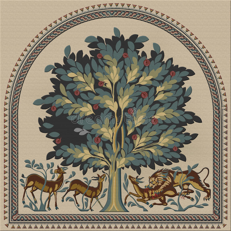 `Tree of Life` mosaic royalty free stock photo