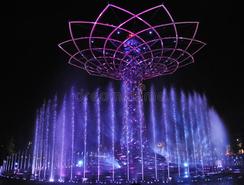 Tree of life show at EXPO in Milan royalty free stock photo