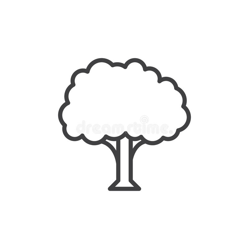 Tree line icon, outline vector sign, linear style pictogram isolated on white. Symbol, logo illustration. Editable stroke. Pixel perfect stock illustration