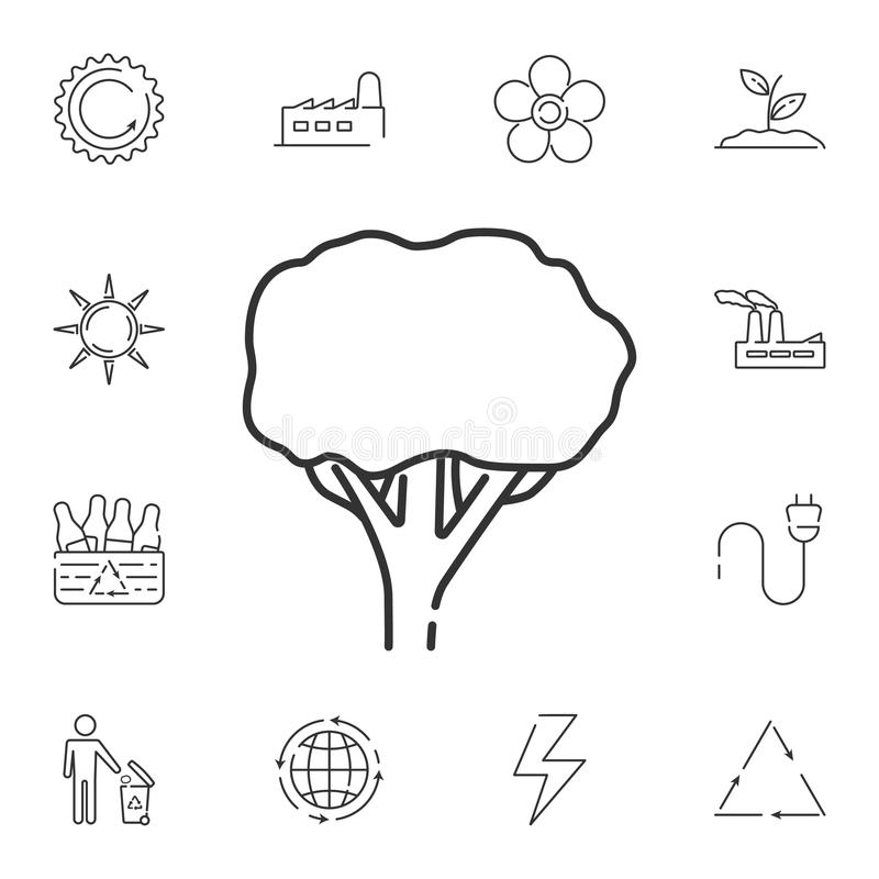 Tree linear icon. Simple element illustration. Tree linear symbol design from Ecology collection set. Can be used in web and mobil. E on white background vector illustration