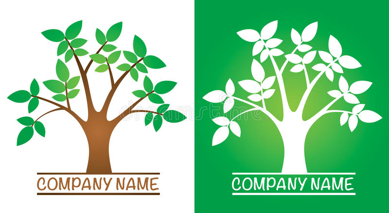 Tree Logo royalty free illustration