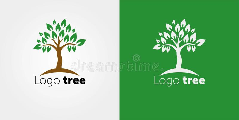 Tree Logo abstract design vector template Negative space style. Abstract Tree Logo Vector Illustration. Abstract Tree Logo Vector vector illustration