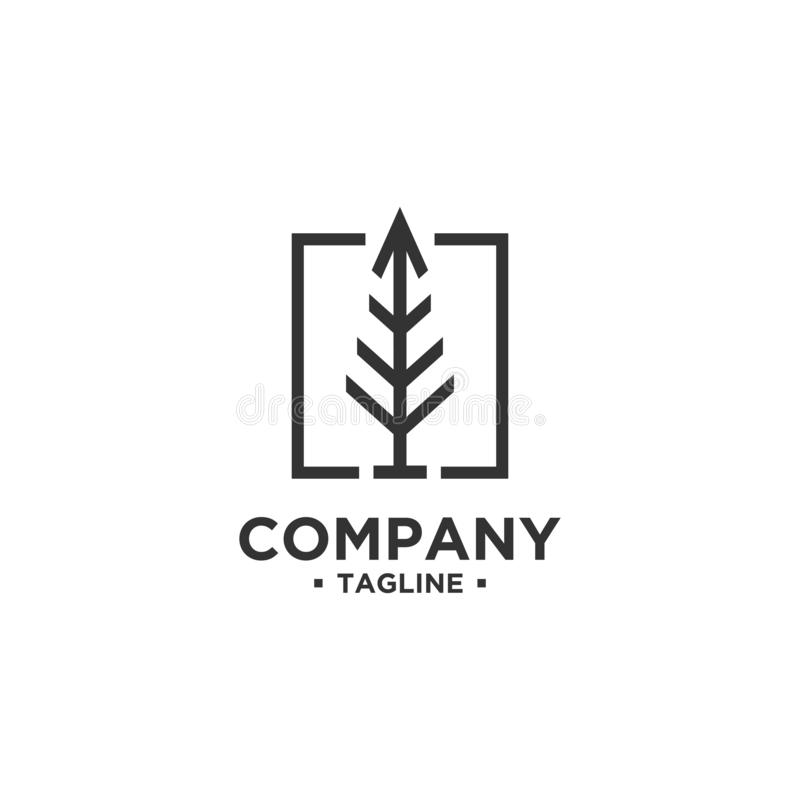 Tree Logo design vector template royalty free illustration