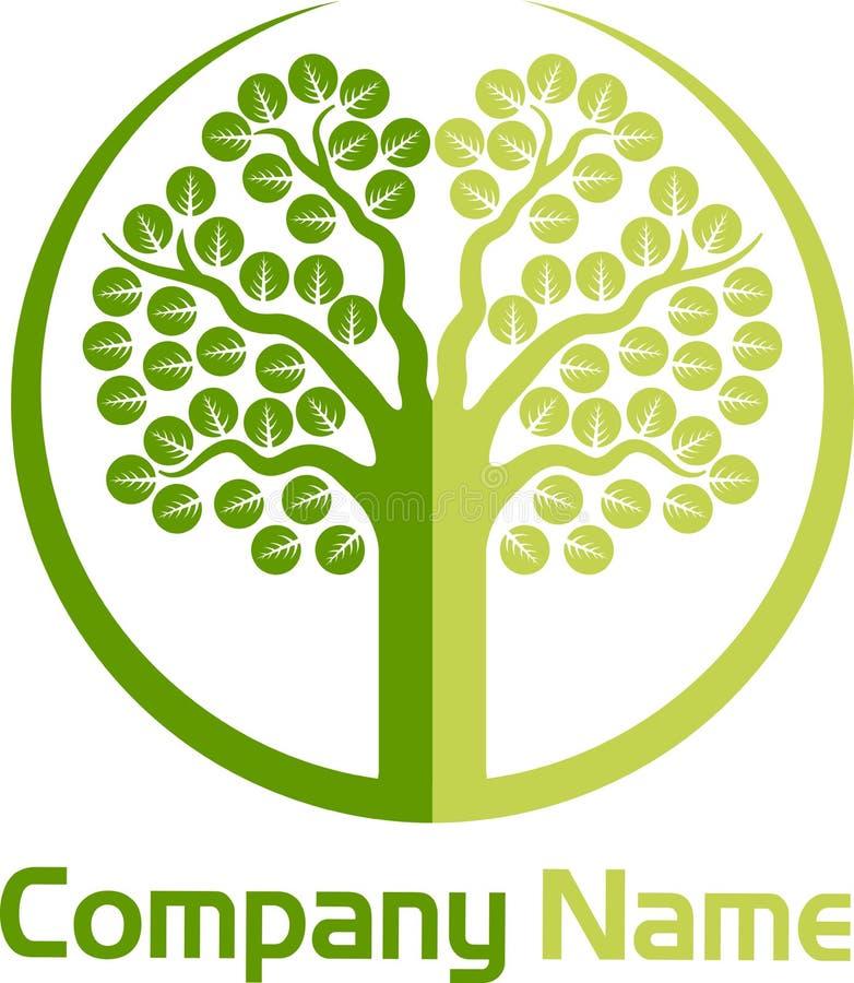 Tree logo. Illustration art of a tree logo with isolated background