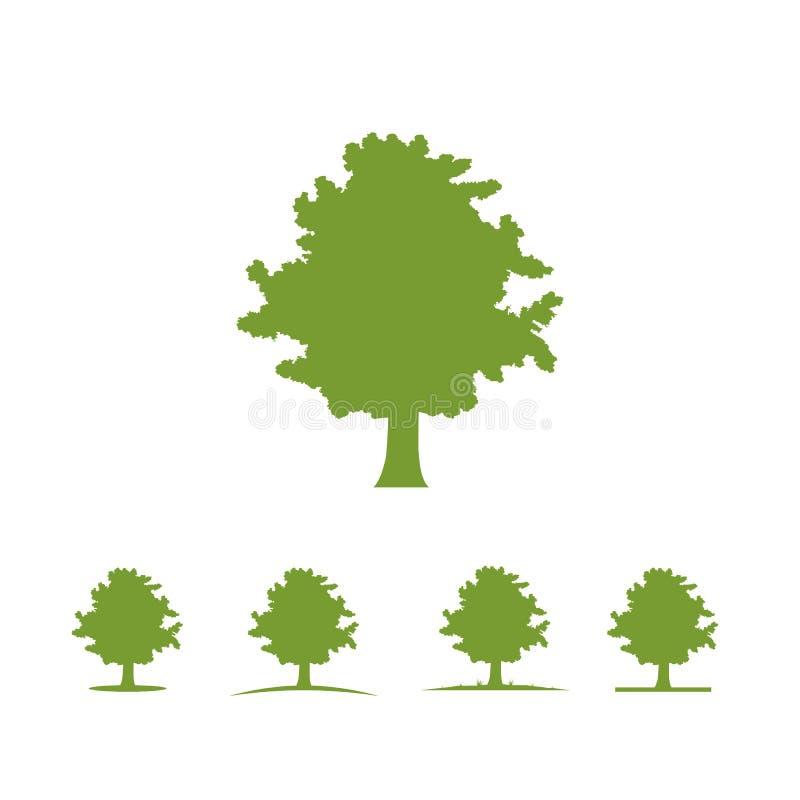 Tree logo illustration Vector silhouette vector illustration
