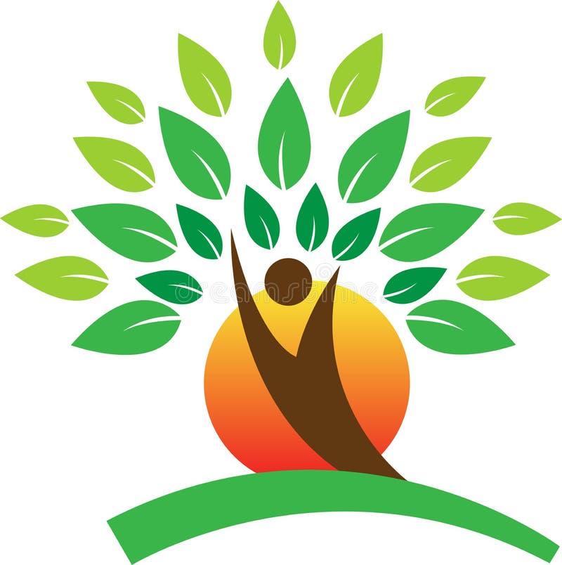 Tree logo. A vector drawing represents tree logo design
