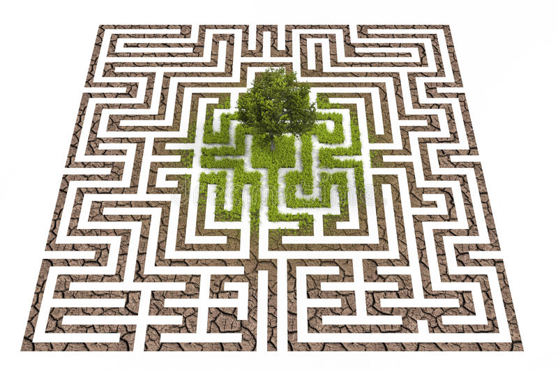 Download Tree Lost In Endless Labyrinth Stock Illustration - Image: 34640108
