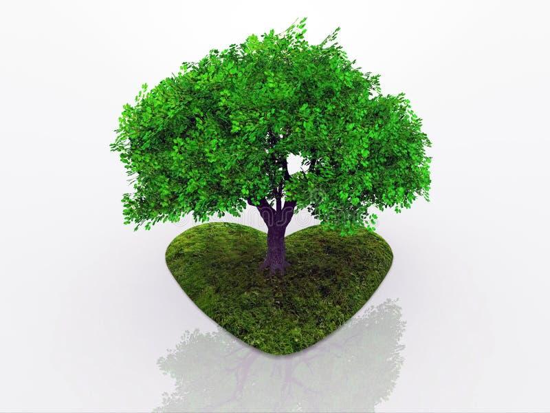 Download Tree love stock illustration. Image of tree, love, nature - 21464449