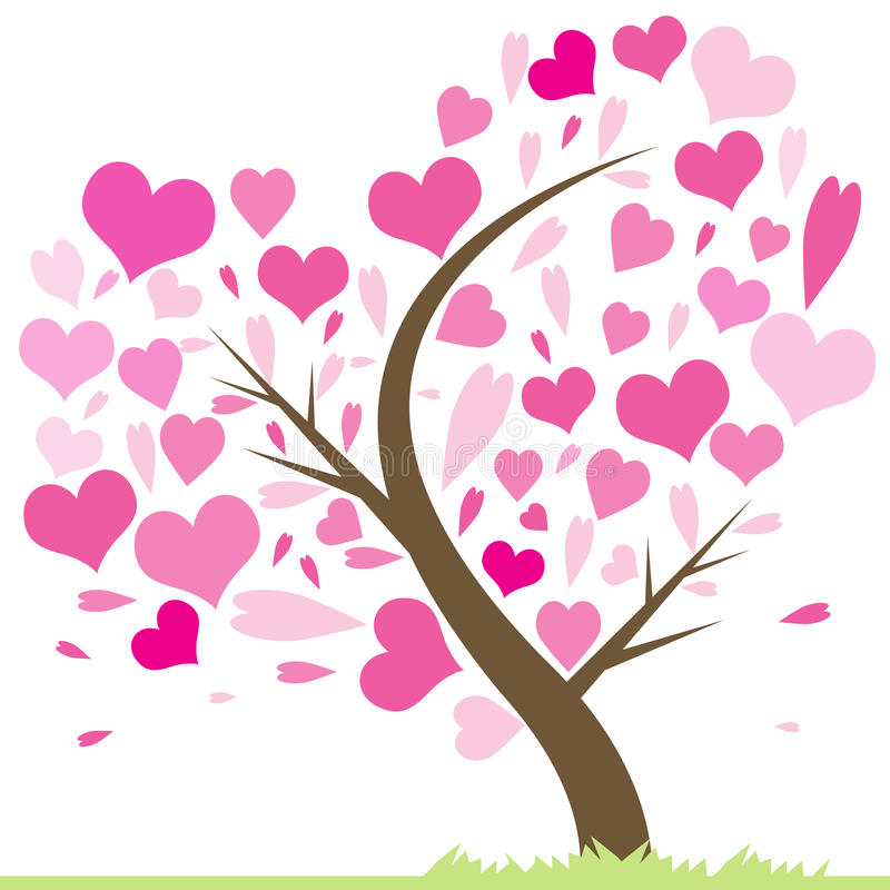 Download Tree of Love stock vector. Image of conservation, happiness - 32845171