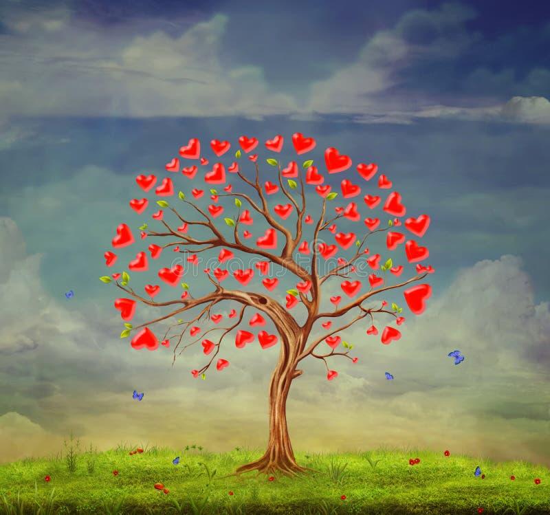 Tree of love royalty free illustration