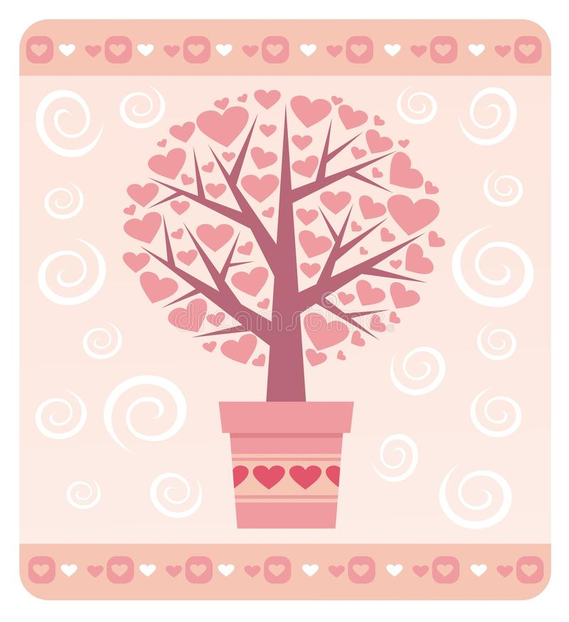 Tree of love. Valentine's day stock photos