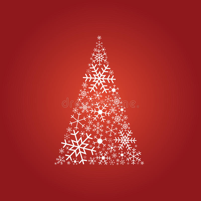 Tree Made Of Snowflakes Royalty Free Stock Image