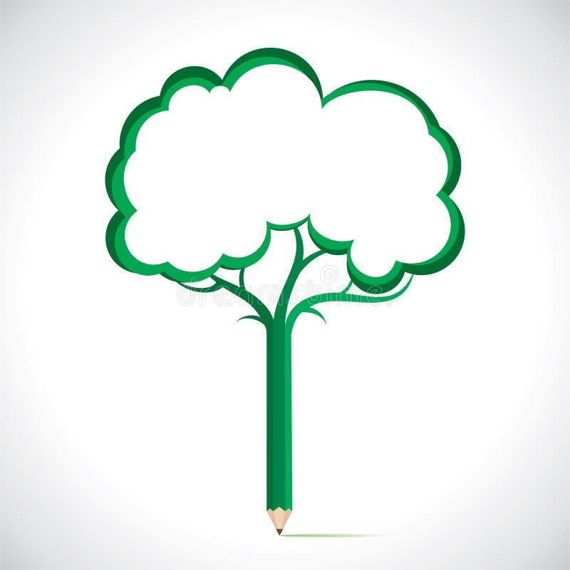 Tree med meddelandeavstånd stock illustrationer