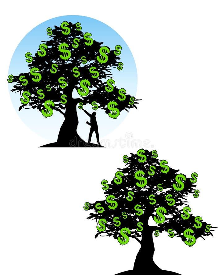 Tree of Money Dollar Signs stock illustration