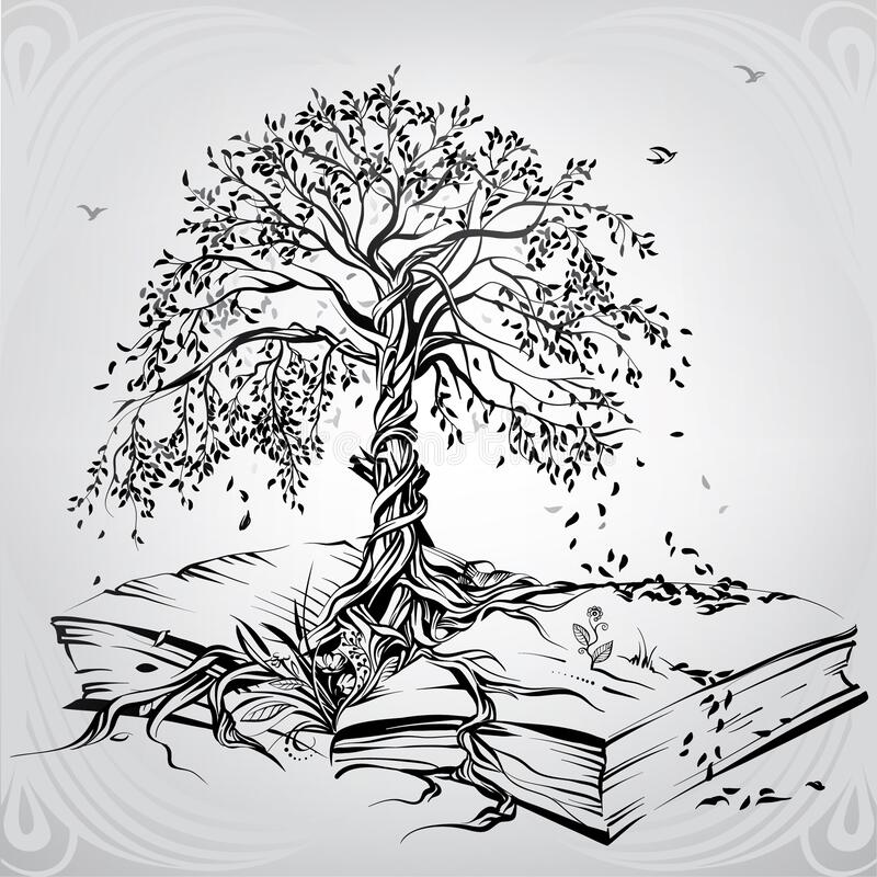 Free Tree Of Knowledge. Vector Illustration Stock Image - 186020171