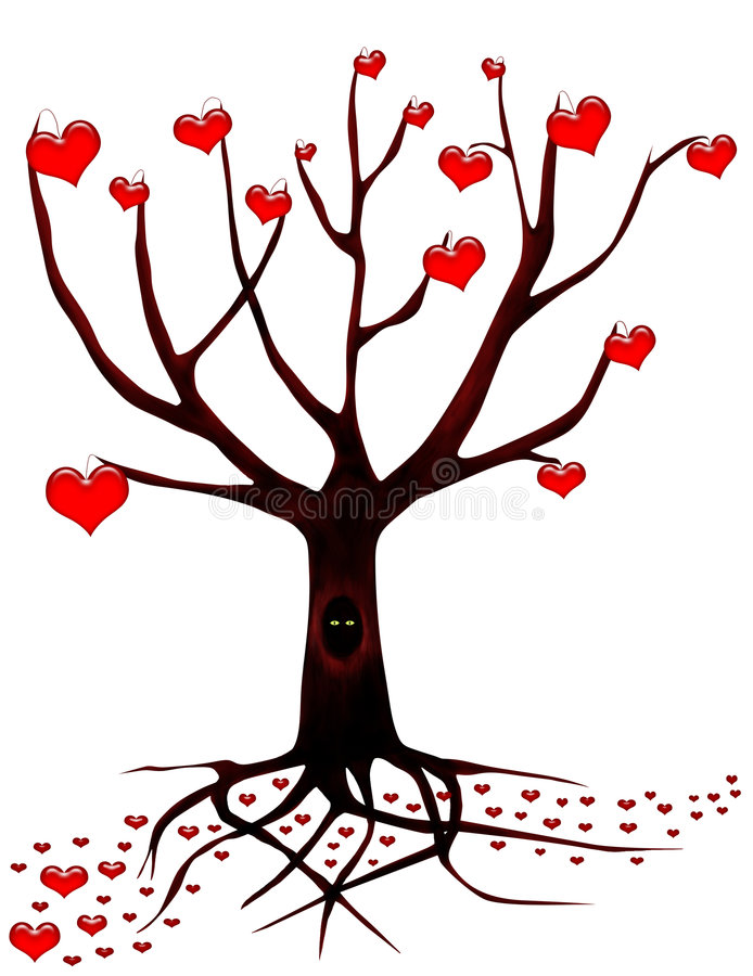 Free Tree Of Love With Eyes Stock Images - 5164924