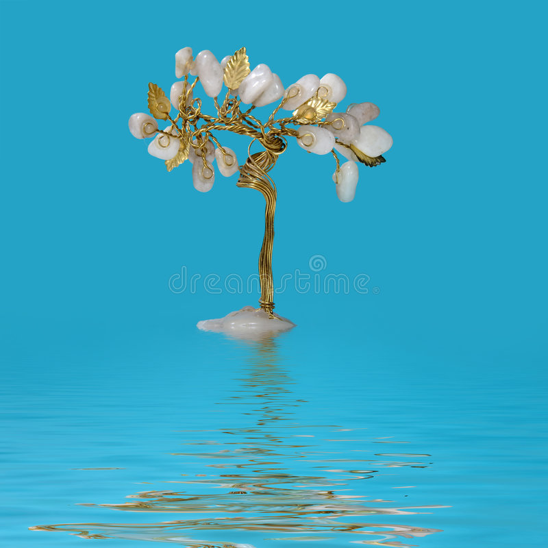 Free Tree Of Luck In Water Growing Stock Photos - 4988893