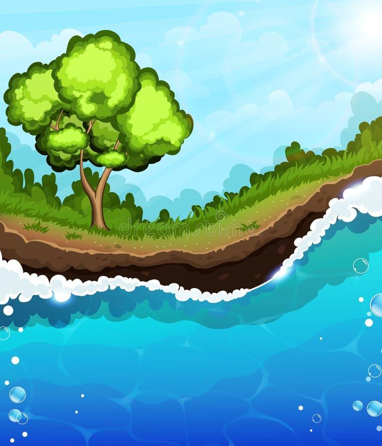 Free Tree On The Riverbank Royalty Free Stock Photos - 60106278