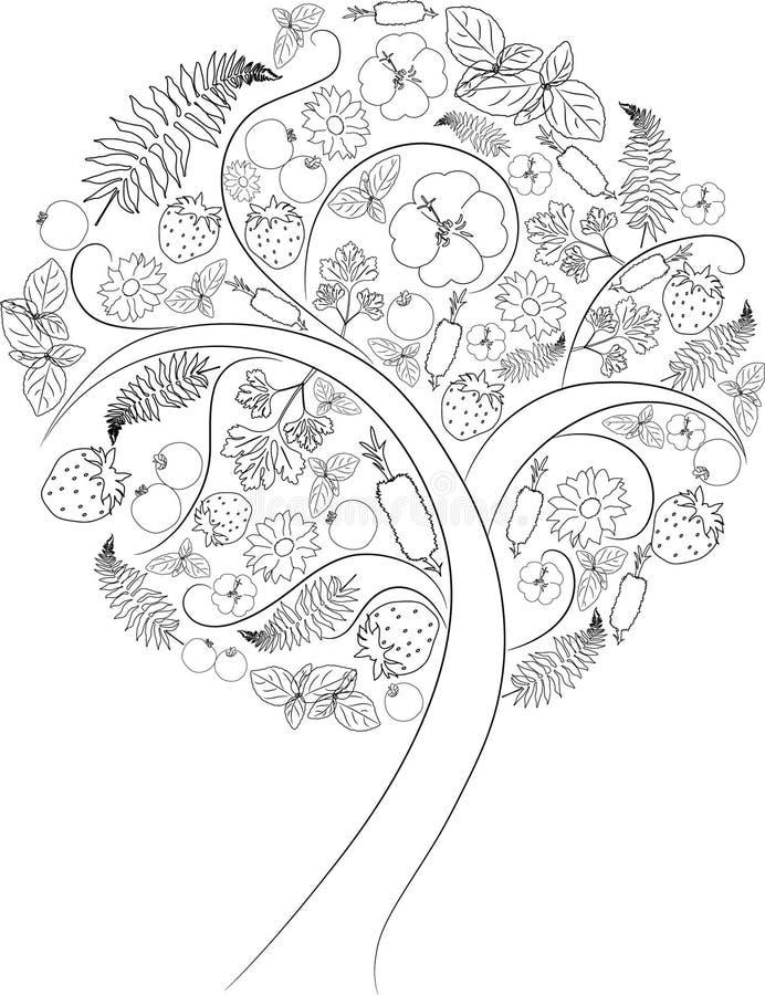 Tree outline stock illustration Illustration of tree 8408433