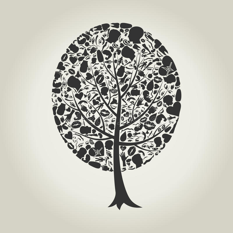 Download Tree of a part of a body stock vector. Image of preparation - 26084666