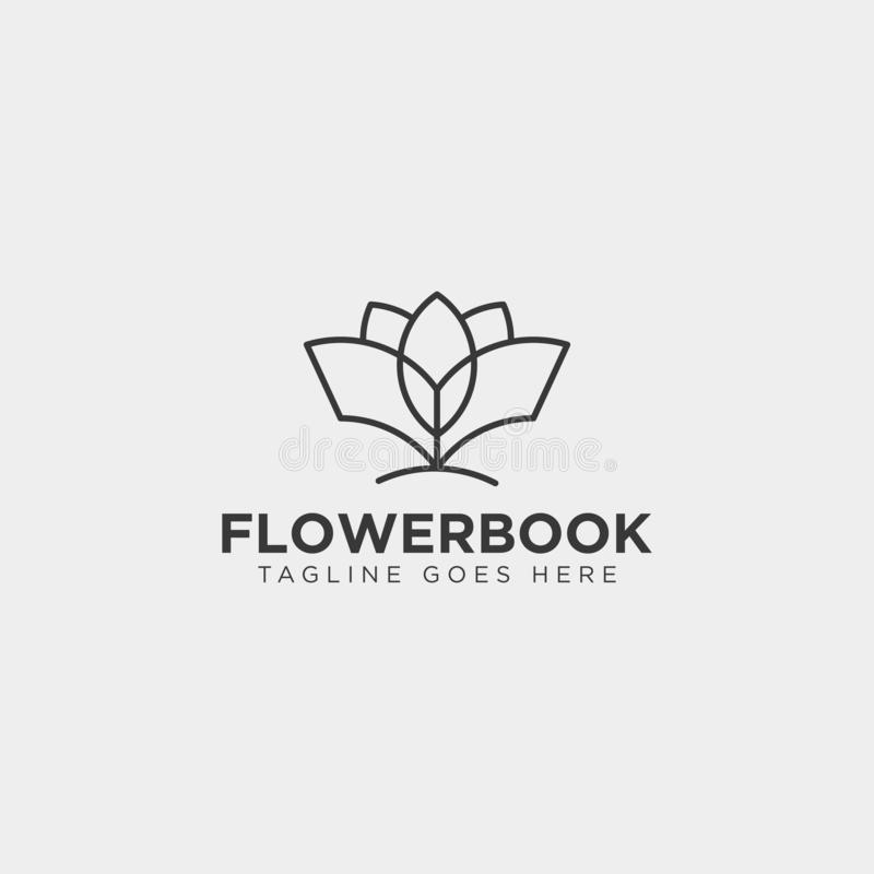 Tree, plant and flower book education line logo template vector illustration icon element. Vector file royalty free stock photos
