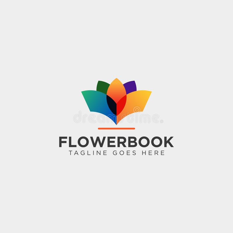 Tree, plant and flower book education line logo template vector illustration icon element. Vector file stock photography