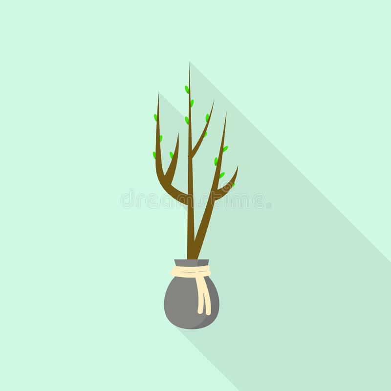 Tree for plant icon, flat style. Tree for plant icon. Flat illustration of tree for plant vector icon for web design stock illustration