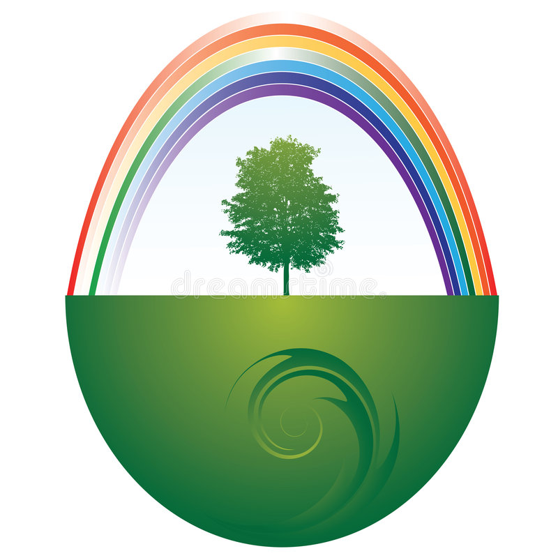 Download Tree and rainbow stock vector. Image of environment, green - 7192309