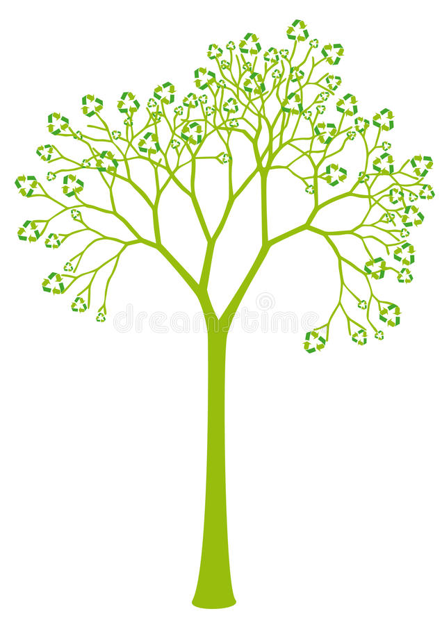 Download Tree With Recycling Sign Leaves Stock Vector - Image: 13469692