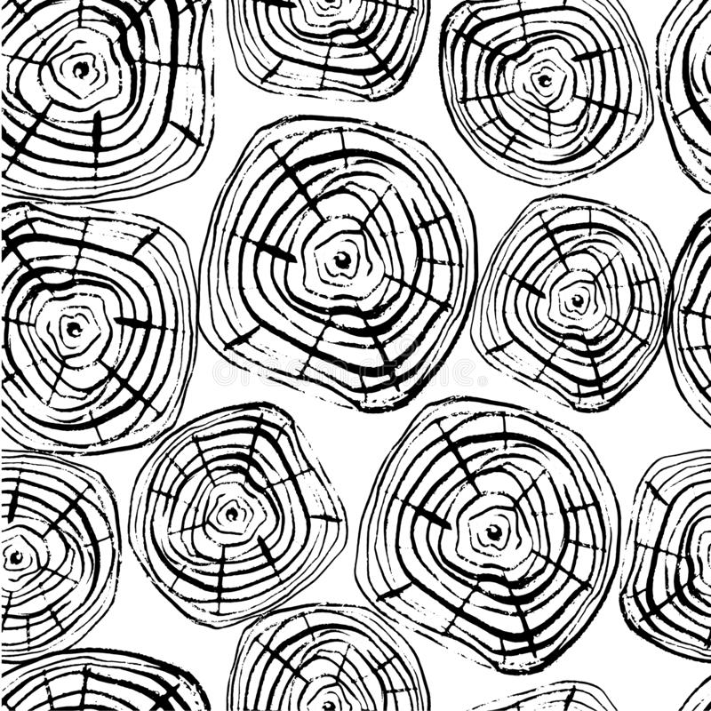 Free Tree Rings Seamless Vector Pattern Royalty Free Stock Images - 127059219