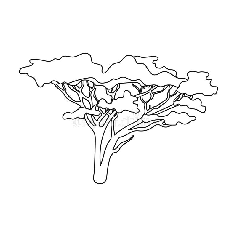 savanna trees coloring pages - photo#21