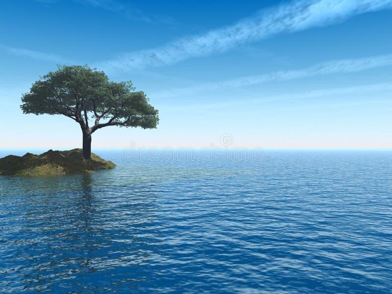 Download Tree_Sea stock illustration. Image of illumination, abstract - 1723403