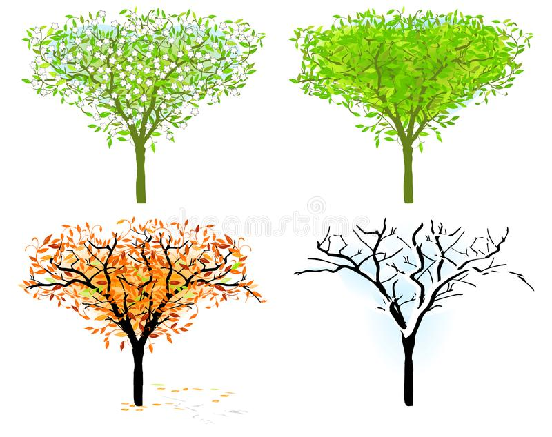 Download Tree in for season stock vector. Illustration of annual - 17351474