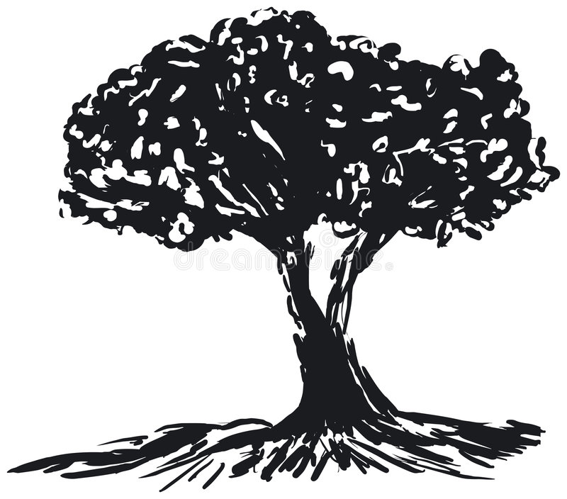 Tree Silhouette Royalty Free Stock Images