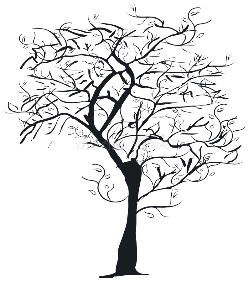 Download Tree silhouette stock vector. Image of twig, wood, festive - 993117