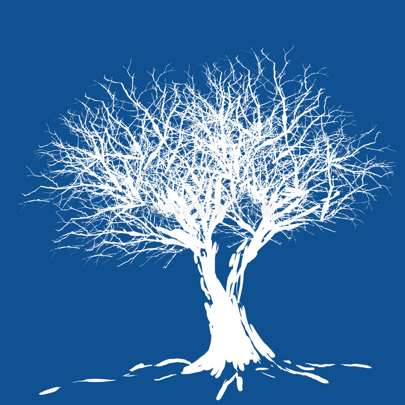 Download Tree silhouette stock vector. Image of tree, blue, landscape - 993127
