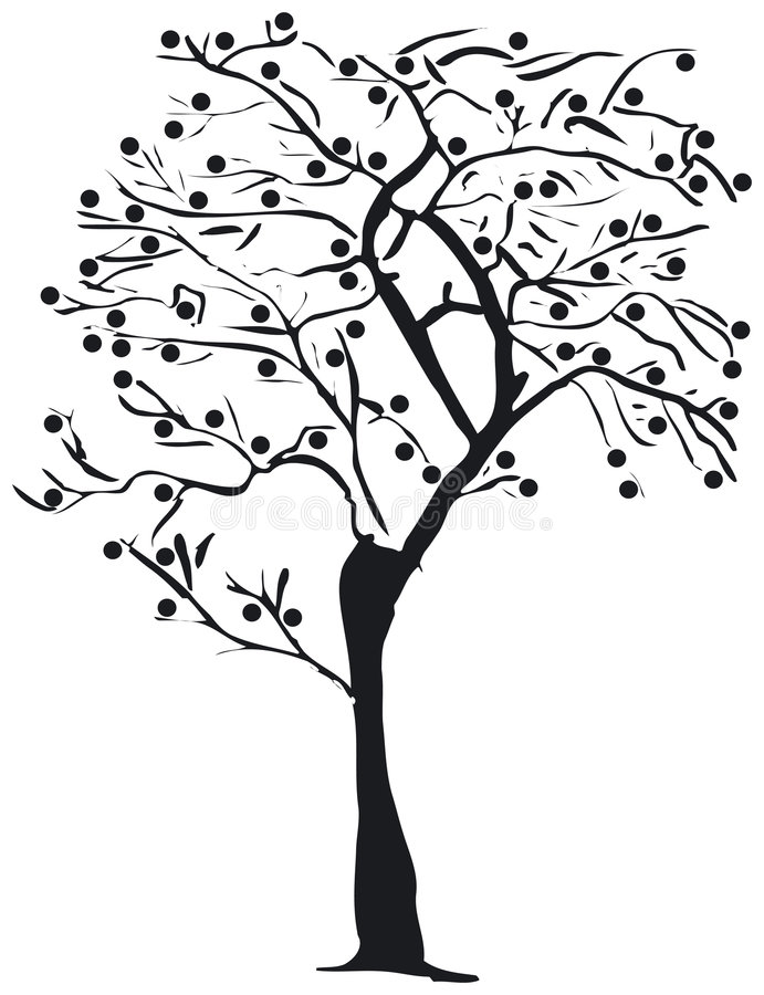 Download Tree silhouette stock vector. Image of xmas, leaf, christmas - 993394