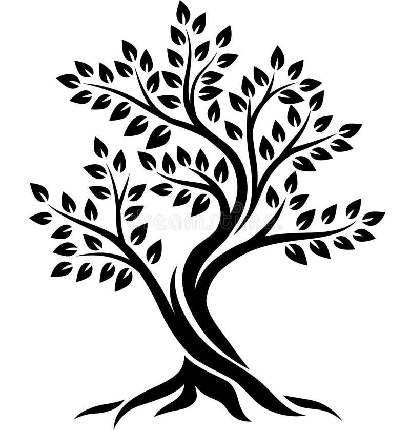 Free Tree Silhouette On White Background Stock Photo - 148207410