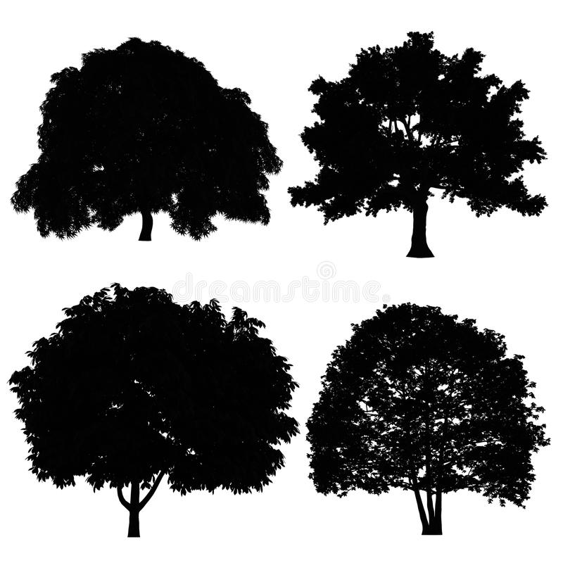 Download Tree silhouette stock illustration. Image of drawing - 36409205