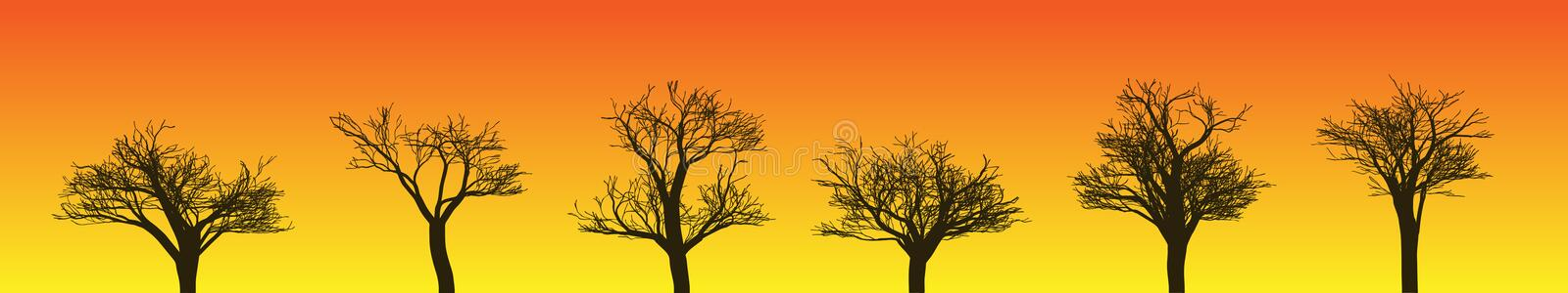 Download Tree Silhouettes stock vector. Image of illustration - 14582090
