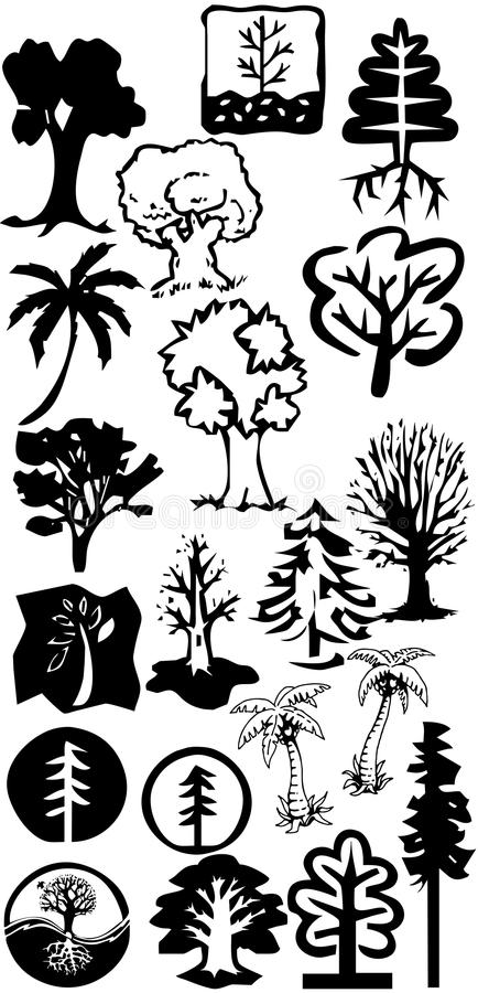 Download Tree silhouettes stock illustration. Image of nature - 17350301